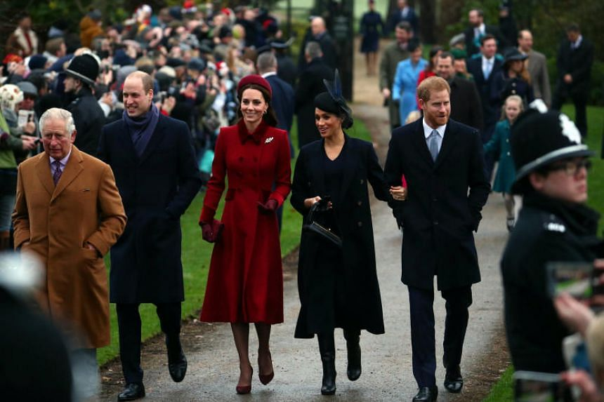 The move comes amid reports of growing abuse on royal social media accounts, particularly against duchess of Sussex and wife of Harry, Meghan (second from right); and duchess of Cambridge and wife of William, Kate (third from left).