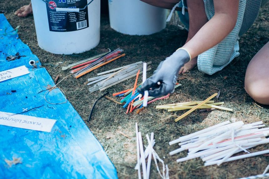 The conservation effort is part of Operation Straw, which aims to eliminate plastic straws from the sea around Sydney.