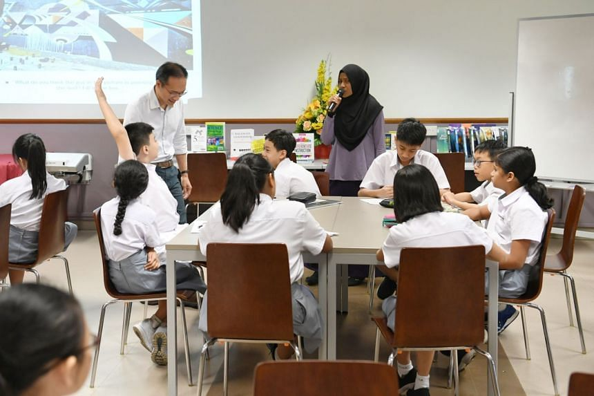 Students in class at Edgefield Secondary School. Education Minister Ong Ye Kung said that a planned review will recognise students' particular strengths that make them suitable for specific post-secondary courses.