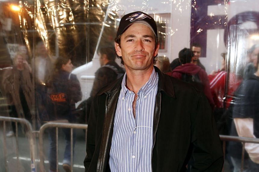 Actor Luke Perry at the Nederlander Theater in New York, on April 24, 2006. News of his hospitalisation had triggered an outpouring of support from celebrities including his former co-stars.