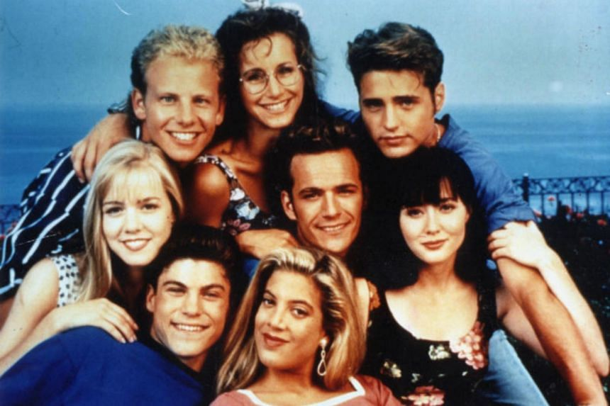The original cast of Beverely Hills, 90210.