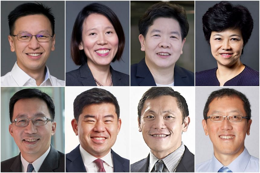 Several permanent secretary appointments will take effect from April 1. The changes apply to the following civil servants (clockwise from top left): Mr Lai Chung Han, Ms Lai Wei Lin, Ms Chan Lai Fung, Ms Yong Ying-I, Mr Chew Hock Yong, Mr  Lee Chuan