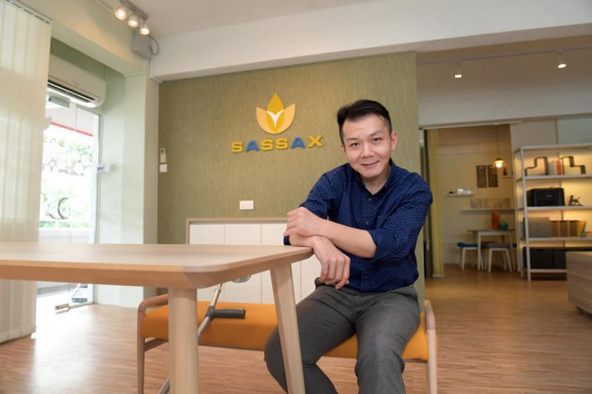 Mr Erwayne Teo suffered spinal injuries after a motorbike accident and joined Sassax as an operations executive in 2018. To accommodate Mr Teo's mobility limitations, Sassax director Cheang Tsu-fei modified the workplace.