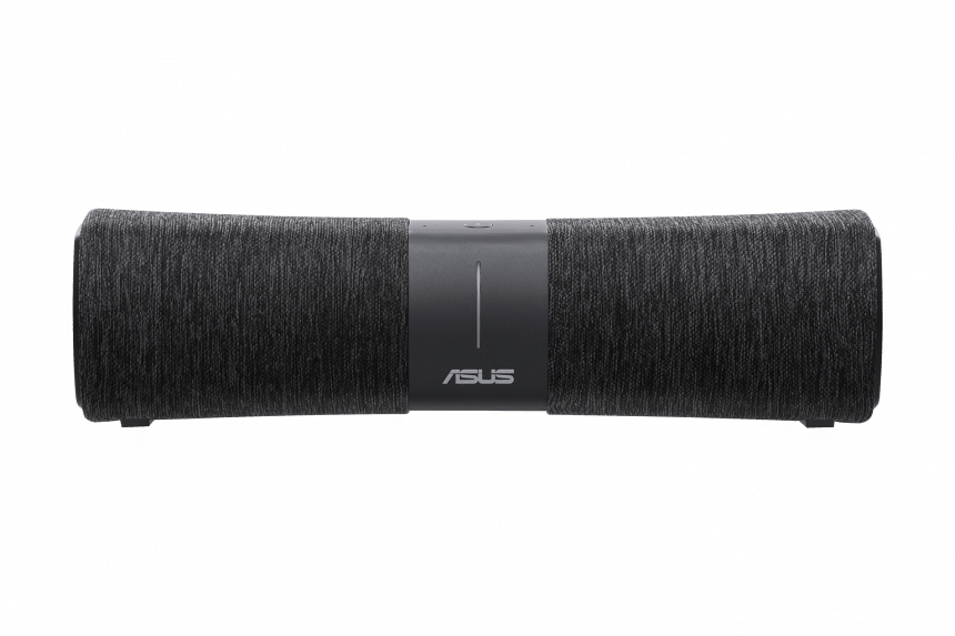 No unsightly antennas on the Asus Lyra Voice, which is both a router and a smart speaker that supports Amazon Alexa. PHOTO: ASUS