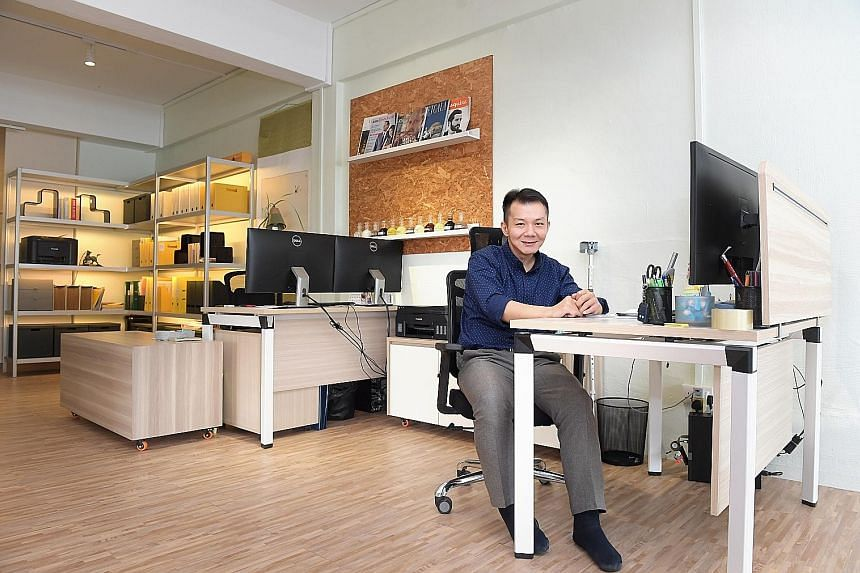 Mr Erwayne Teo, who suffered spinal injuries after a motorbike accident, joined global energy and commodities company Sassax as an operations executive last year. The company modified Mr Teo's workspace, with partitions removed to create an open spac