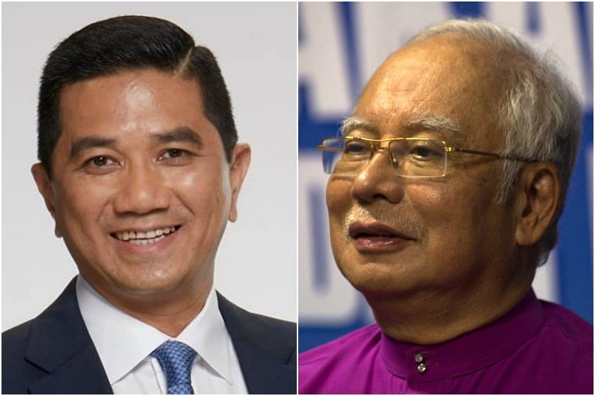 A public tiff has erupted between Malaysian Economics Affairs Minister Datuk Seri Mohamed Azmin Ali (left) and former premier Najib Razak over the sovereign wealth fund's recent loss.