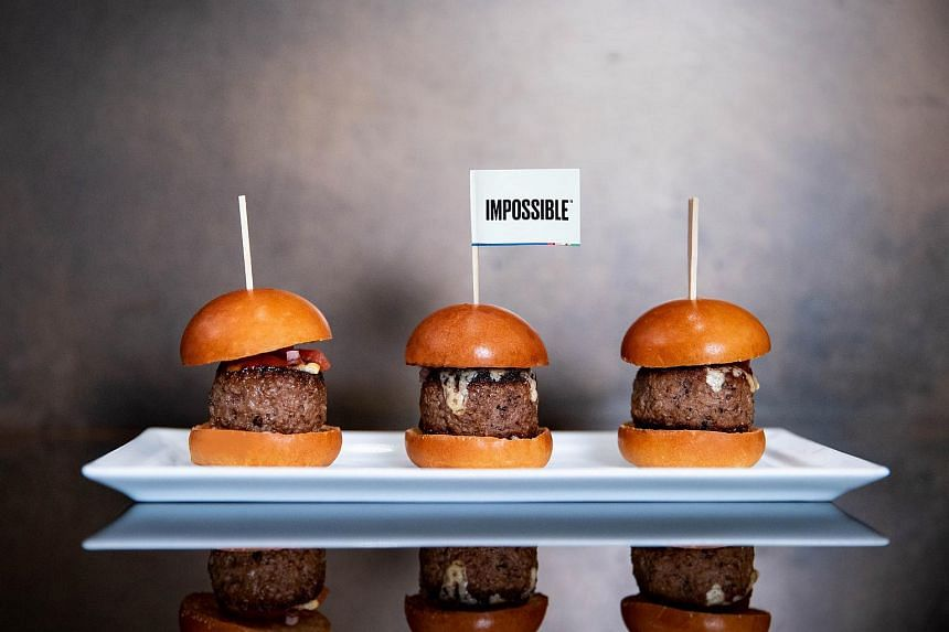CUT by Wolfgang Puck at Marina Bay Sands is serving The Impossible Slider, that uses plant-based meat burger patties.