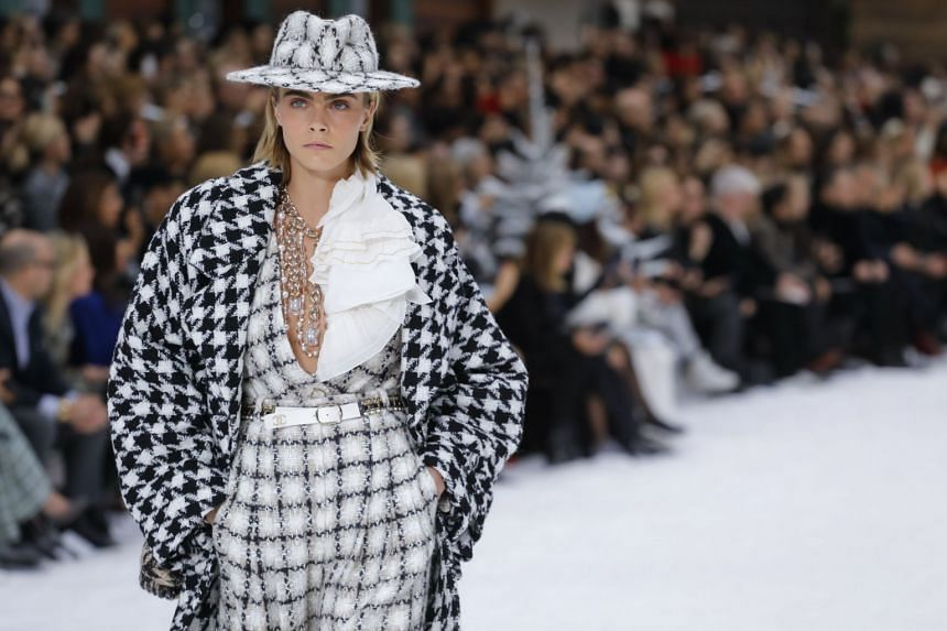 Designs from Chanel's fall collection, which was Karl Lagerfeld's final show for the fashion house.