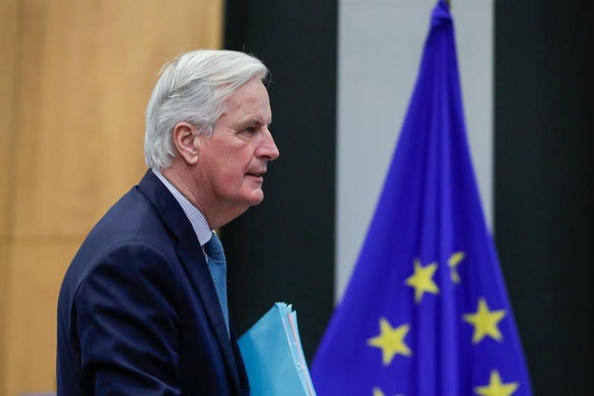 European Union chief Brexit negotiator Michel Barnier attends the weekly college meeting of the European Commission in Brussels, Belgium, on March 6, 2019.