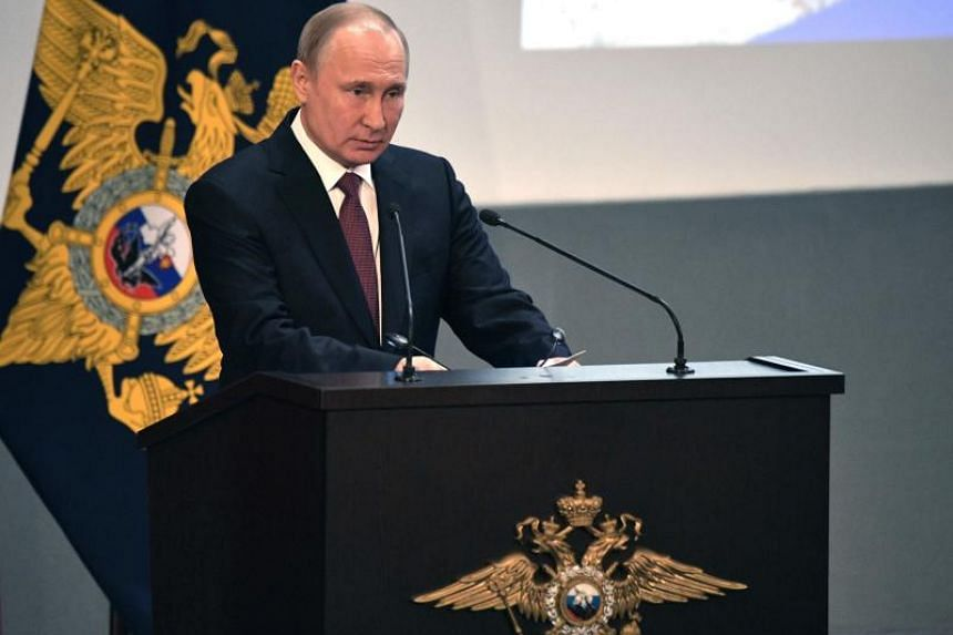 In a speech to the officers of the FSB security service, which he led before becoming president, Russian President Vladimir Putin said foreign intelligence agencies were stepping up activity in Russia.