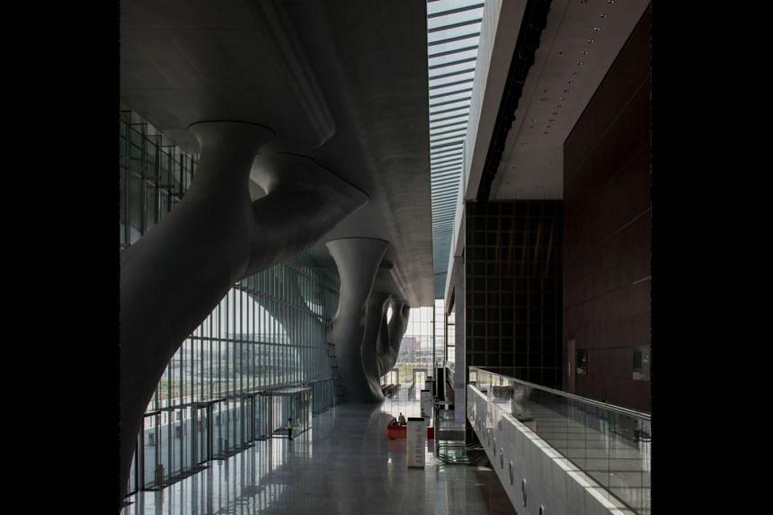 The Qatar National Convention Centre, which Arata Isozaki designed in 2011.
