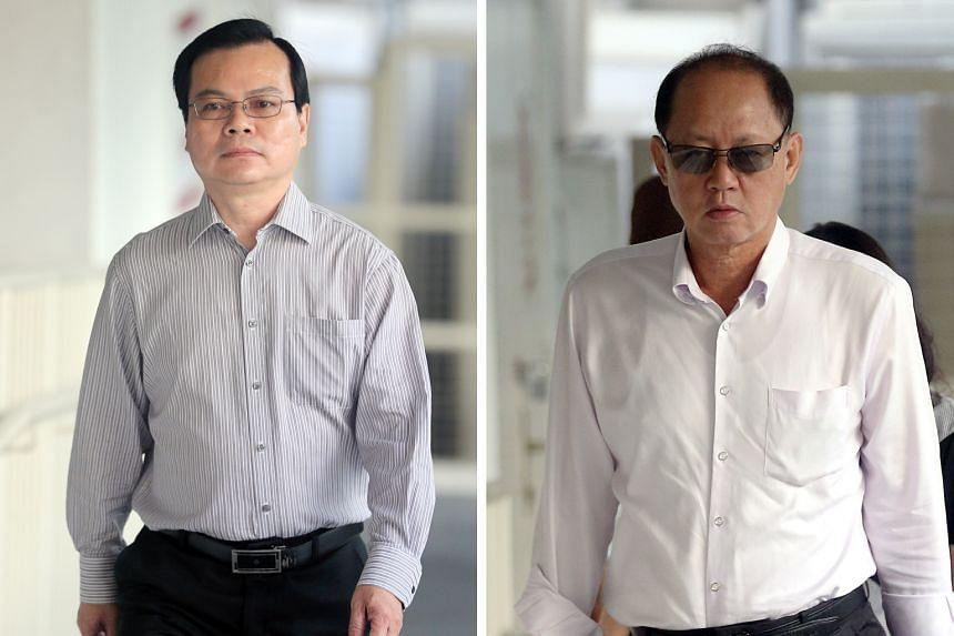 Wong Chee Meng (left) is accused of receiving more than $107,000 in bribes. His alleged co-conspirator Chia Sin Lan (right) is also being tried concurrently in the ongoing bribery case.