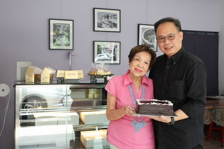 Mr Jason Kwan, with his mother, Lana Cake Shop founder Violet Kwan, has made improvements to the shop and the cakes, giving the best-selling Chocolate Fudge Cake a more intense chocolate flavour.