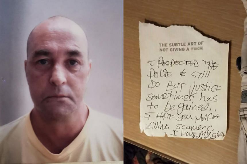 Police found a cryptic note near the victim, identified as Mr Brian Patrick O'Reilly. The IT manager worked for a Singapore-based company, a media report said.