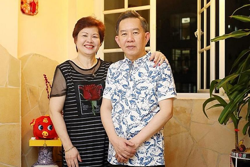 Madam Linda Ng, 55, and her husband Andrew Sim, 62, welcome more options for independent living for seniors. She had to stop work after a 2007 car accident left her with limited mobility in her neck and back.