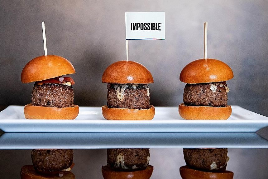 Above: Dr Patrick Brown, founder and CEO of Impossible Foods, started the company in 2011 to create meat and dairy products that would satisfy meat lovers and reduce the environmental impact caused by animal farming. Left: Cut by Wolfgang Puck's The