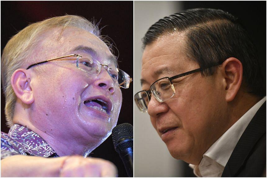 "Malay Chinese Association president Datuk Seri Dr Wee Ka Siong (left) slammed Mr Lim Guan Eng's statement as ""inflammatory and irresponsible""."