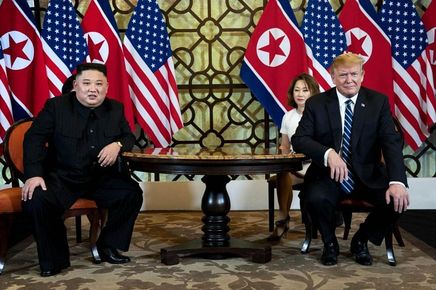 The talks between US President Donald Trump (right) and North Korean leader Kim Jong Un last week finished abruptly after the pair failed to reach an agreement.