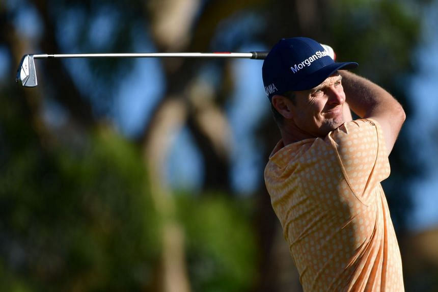 Rose in action during the final round of the 2019 Farmers Insurance Open.