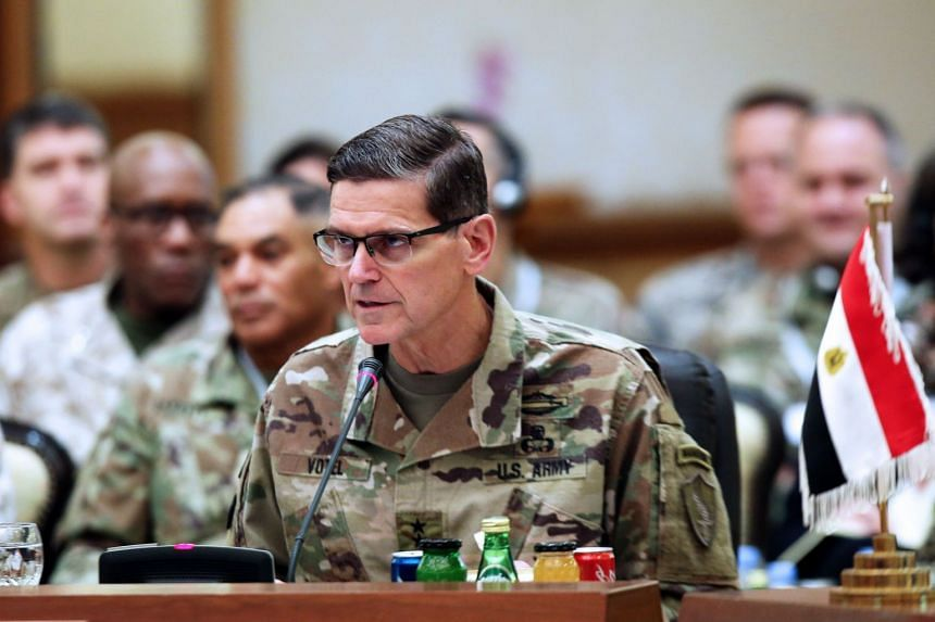 """Votel (above, in a file photo) said ISIS militants remain largely """"unrepentant, unbroken and radicalised""""."""