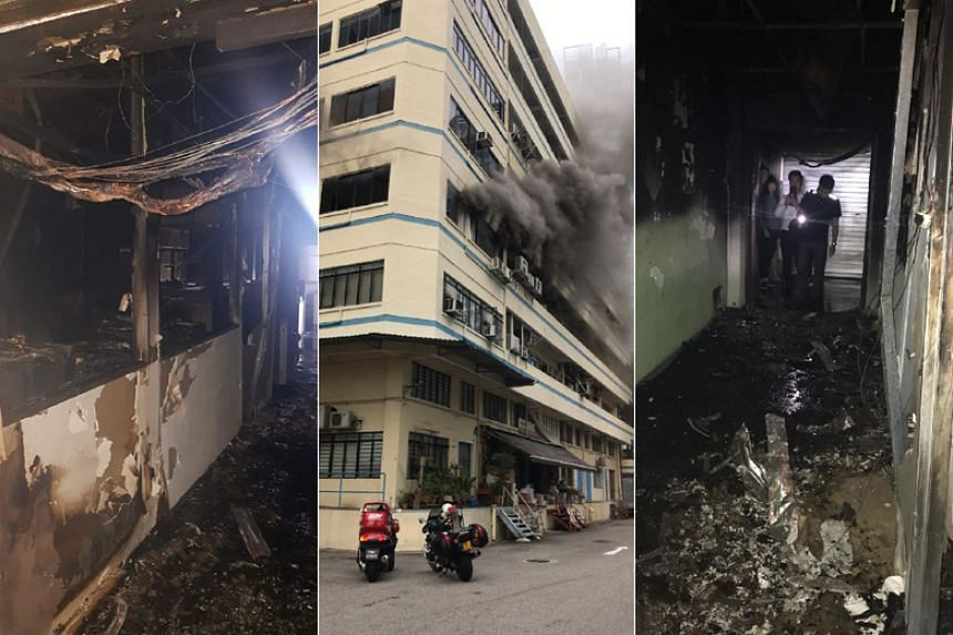 The Singapore Civil Defence Force (SCDF) said it responded to the fire in a third floor unit at 2 Jalan Rajah at about 7.30am.