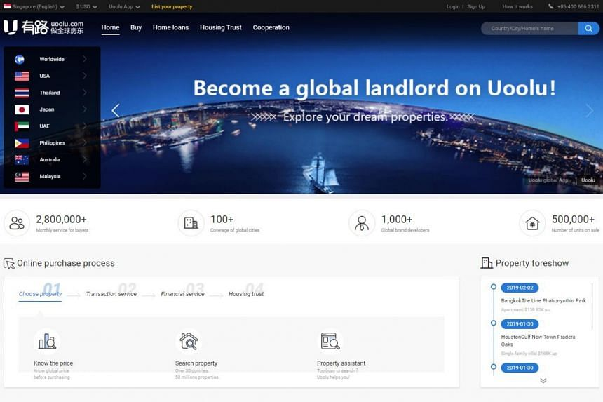 As a one-stop-shop, Uoolu is also a conduit for purchasers to get mortgages from overseas banks, find tenants and collect rent.