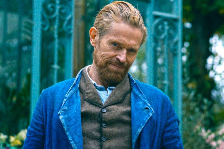At Eternity's Gate (top) is directed by Julian Schnabel (above) and stars Willem Dafoe (left, with his wife Giada Colagrande) as Dutch artist Vincent van Gogh.