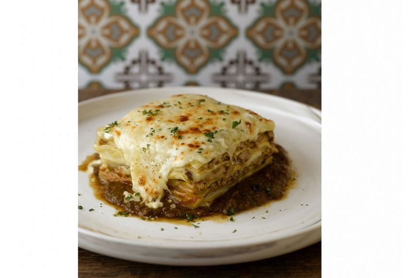 Chicken rendang lasagne at Baba Chews Bar and Eatery.