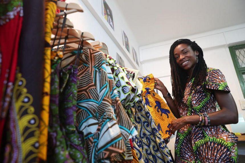 Singapore-based womenswear label Oliveankara is founded by Italian-Nigerian Ifeoma Ubby, 35.