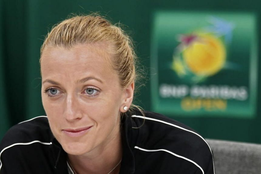 Petra Kvitova of Czech Republic at the BNP Paribas Open Media Day round table at the Indian Wells Tennis Garden in Indian Wells, California, US, on March 6, 2019.