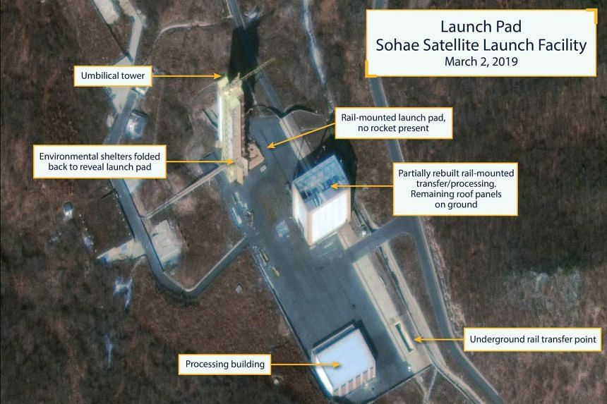 A commercial satellite image showing the Sohae (Tongchang-ri) Satellite Launching Station in North Korea.