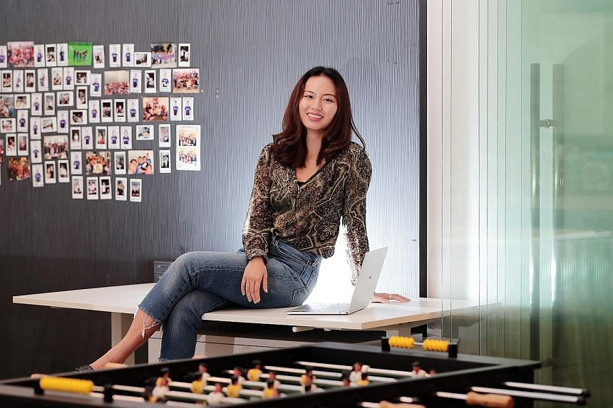 When she first joined crowd-investing firm Funding Societies, Ms Gwen Wong found it hard to understand her colleagues' jargon. These days, she develops tech solutions to improve user experience and solves colleagues' problems with data analysis and a