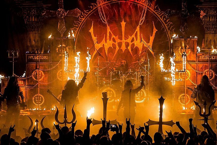 Swedish black metal band Watain, whose 2013 album The Wild Hunt topped the Swedish music charts, were set to play their debut Singapore concert yesterday. Home Affairs and Law Minister K. Shanmugam said yesterday that the public outcry against the sh