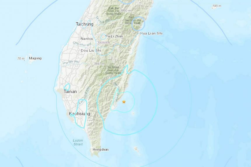 A 5.2-magnitude earthquake struck off the coast of Taiwan's eastern county of Taitung on March 8, 2019.