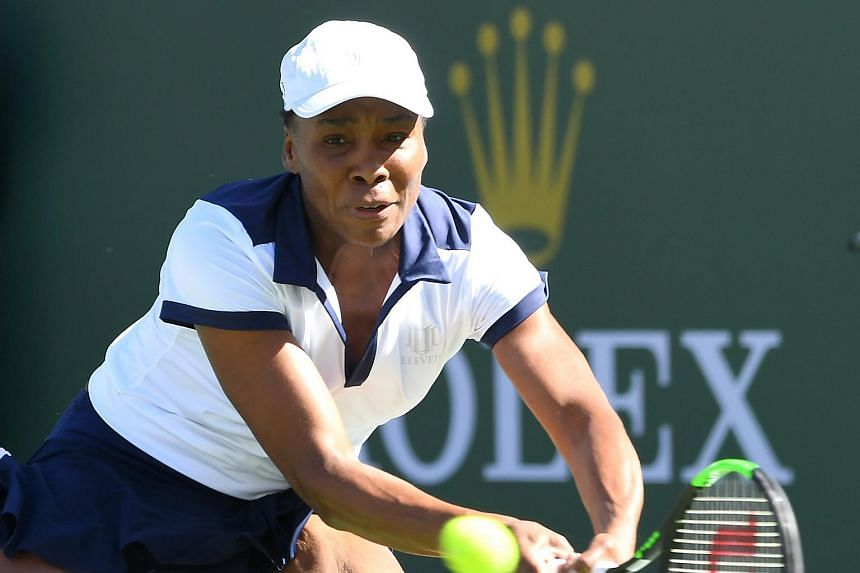Venus Williams (above) broke Andrea Petkovic for a sixth time in the final game to make up for a dismal second set.