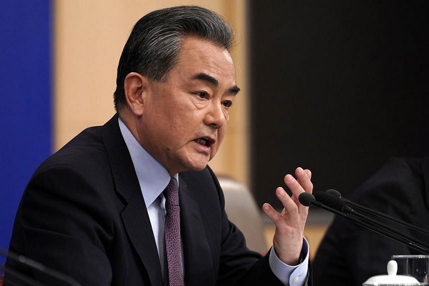 Chinese Foreign Minister Wang Yi speaks during a press conference on the sidelines of China's National People's Congress in Beijing, China on March 8, 2019.