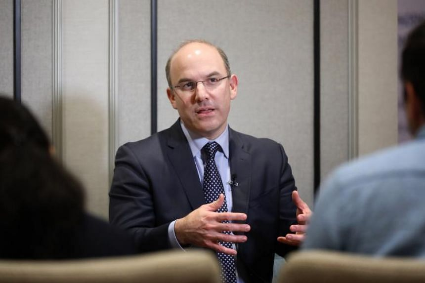 Mr Juan Zarate, the US' former deputy national security adviser for combating terrorism and now head of a strategic advisory firm, speaking at the Phoenix International Programme on March 5, 2019.