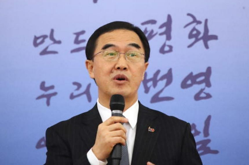 Unification Minister Cho Myoung-gyon (above) will be replaced by Kim Yeon-chul, a pro-engagement scholar who has headed the state-run Korea Institute for National Unification since April, 2018.