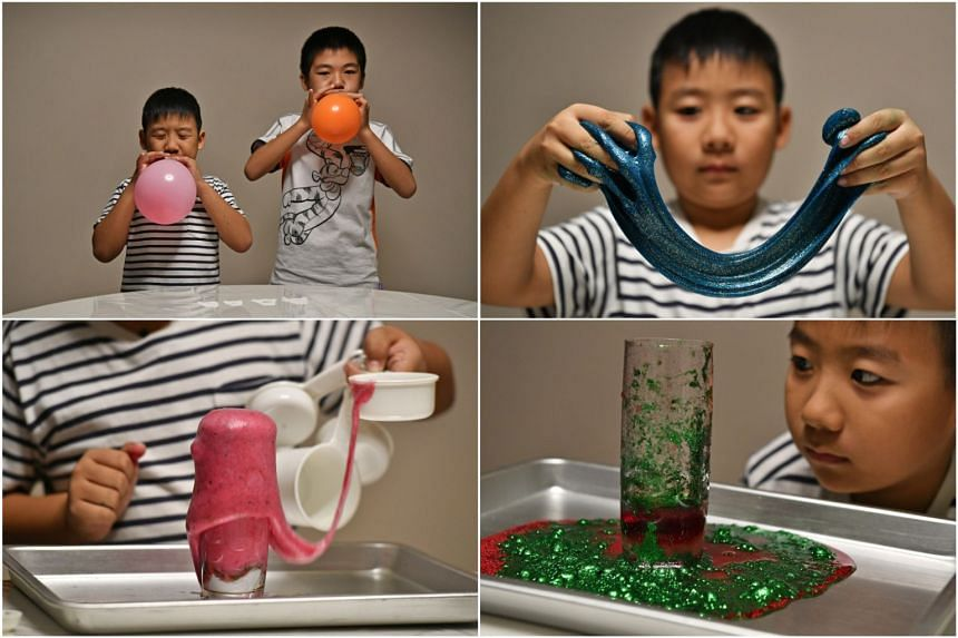 Cousins Caleb So, eight, and Neo Shyh Min, 10, put the different activities to the test.