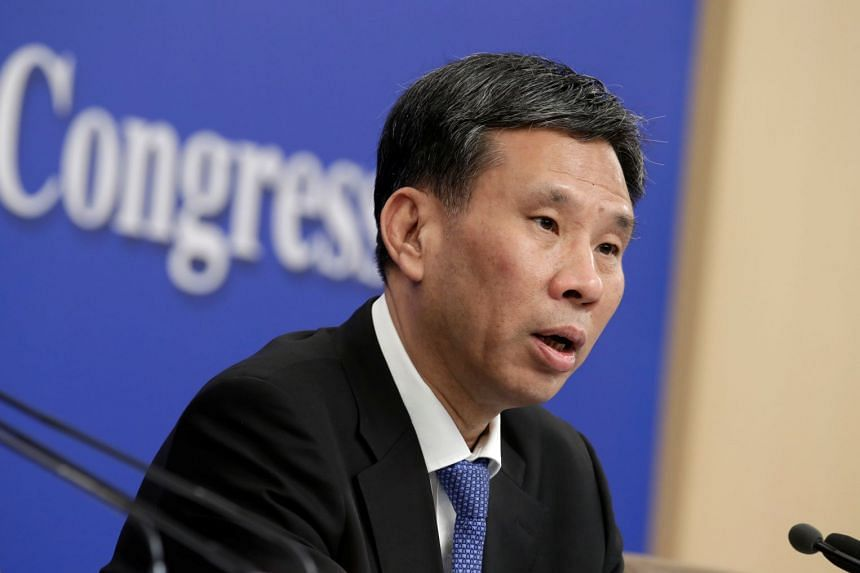 Chinese Finance Minister Liu Kun at a news conference during the National People's Congress (NPC) in Beijing, China, on March 7, 2019.