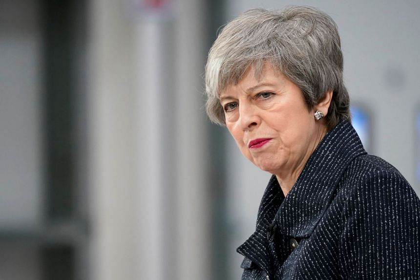British Prime Minister Theresa May delivers a speech in Grimsby, Britain, March 8, 2019.