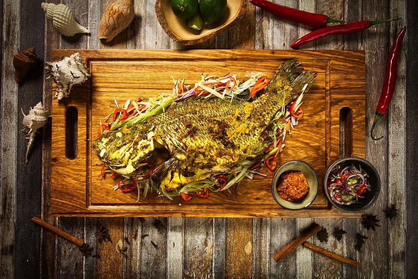 Grilled Whole Fish from Fat Chap.