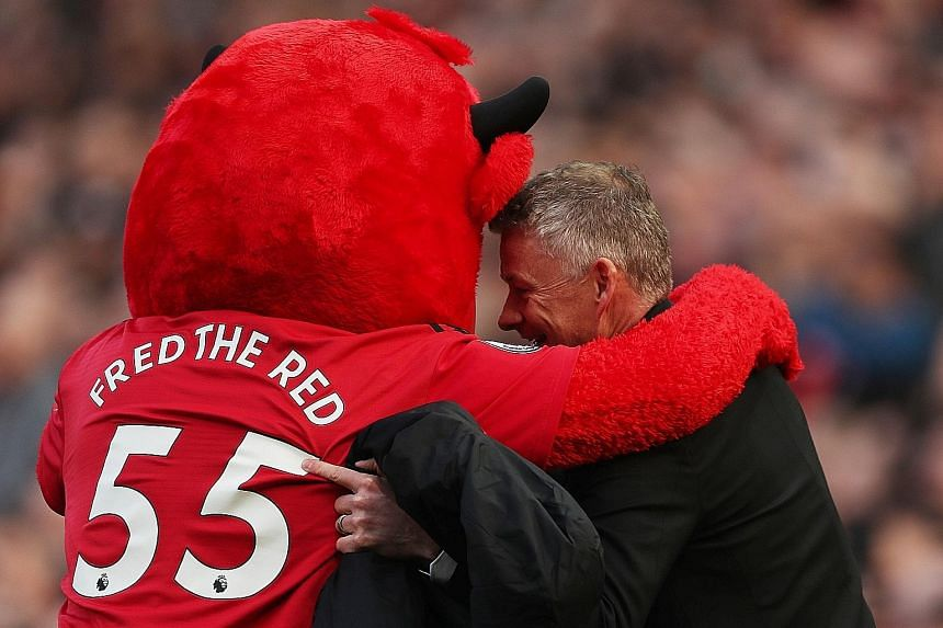 Everybody loves Manchester United interim manager Ole Gunnar Solskjaer, including club mascot Fred the Red.