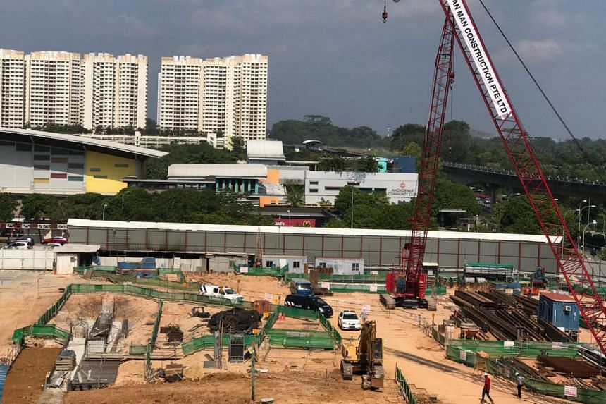 The Straits Times understands that the worker was carrying out piling works at the construction site when he was struck by a sheet pile.