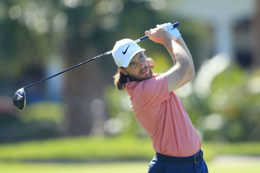 Tommy Fleetwood plays a shot from the 12th tee during the second round of the Arnold Palmer Invitational, on March 08, 2019, in Orlando, Florida.
