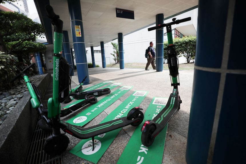 The GrabWheels trial - launched last December at the National University of Singapore's Kent Ridge campus - is for the university and Grab to study the feasibility of using an e-scooter sharing service as an alternative way of getting around the camp