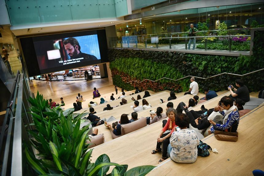 The revamped Basement 2 has an atrium space, ST3PS, that can host more than 200 people and features a 6m by 3.5m high-definition screen. It will show free daily movie screenings and live football matches.