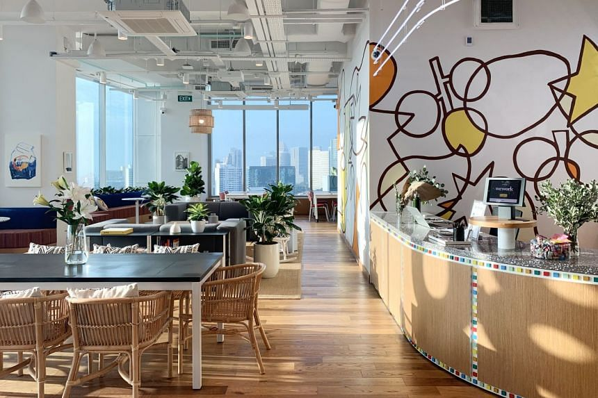 Co-working space provider WeWork opened its first location outside the CBD on Tuesday, in Jalan Besar (above). Colliers said such operators occupy 5 per cent of prime office areas in Singapore, but are also shifting towards city fringe areas and taki