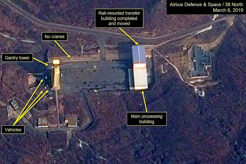A satellite image on March 6 shows North Korea may have resumed operations at its long-range rocket launch site at Sohae, according to the website 38 North and the Centre for Strategic and International Studies.