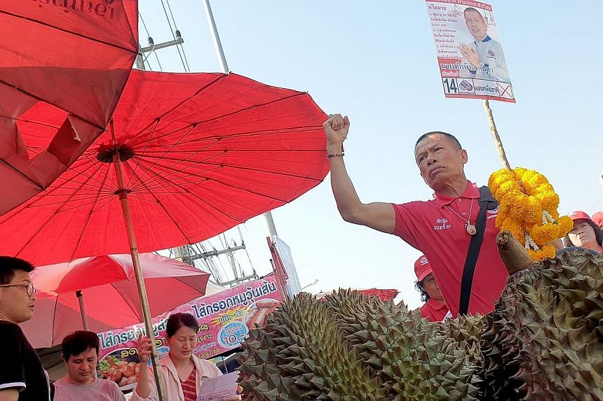 Mr Thaksin Kanta, 62, is among 15 candidates from Pheu Chart party who have changed their names to Thaksin or Yingluck, after former prime ministers Thaksin Shinawatra and his sister Yingluck. He is up against 32 rival candidates in the constituency